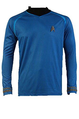 Star Trek Into Darkness Spock Shirt Uniform Kostüm Blau Gr. Medium, blau