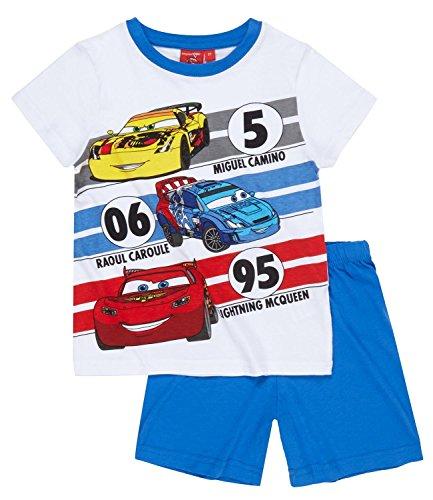 Disney Cars Shorty Schlafanzug Kollektion 2016 weiß (110, weiß)