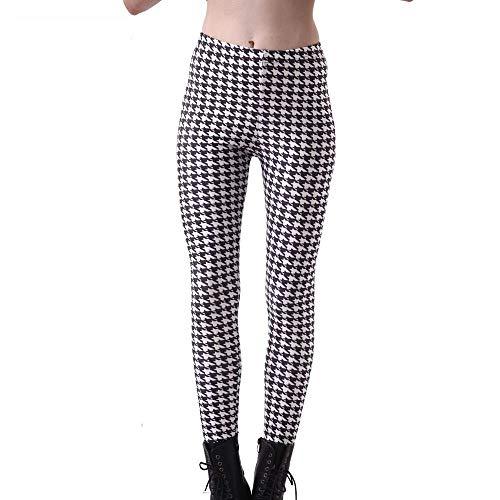 BIRAN Leggings Moda para Mujer Pata De Único Gallo Pantalones De Cintura Elástica Pantalones De Cintura Alta Elásticos Lápiz Pantalones Pantalones Casuales