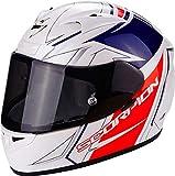 Scorpion Casco Moto EXO-710AIR Line, White/Red/Blue, XXL