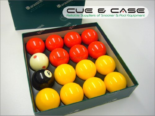 Aramith PREMIER Red & Yellow LEAGUE Edition 2 Pool Balls with PRO CUP CUE BALL by Aramith