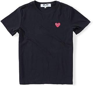 COMME des GARCONS PLAY コムデギャルソン メンズ Tシャツ 半袖 ハート 男女兼用 シンプル スウェット スポーツ トップス 丸首