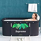 Baignoire Pliable Portable, Baignoire Non Gonflable Portative de 120cm, Baignoire Pliante en PVC/Spa, baignoire de trempage...