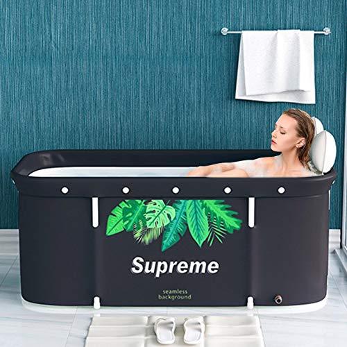 Tongyundacheng Tragbare Faltbare Badewanne, 120 cm Faltbare Badewanne Für Erwachsene, Stehende Badewanne, Tragbare Badewanne, Separates Familienbad SPA-Badewanne, Ideal Für Heißes Badeisbad