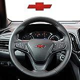 GEERUI Compatible Steering Wheel Bowtie Emblems for Chevrolet Equinox Malibu Cruze Volt Blazer Silverado Suburban Tahoe Bolt Trax Spark Sonic Impala(steering wheel emblem-Red)