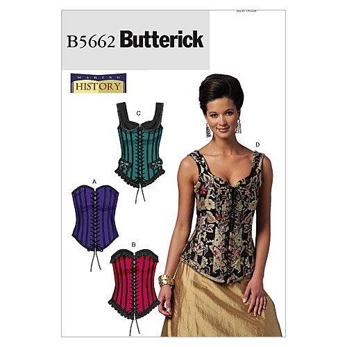 McCall's Patterns Butterick B5662 - Patrón con Instrucciones para Coser corsés de Mujer (Tallas de L a XXL), Color Blanco