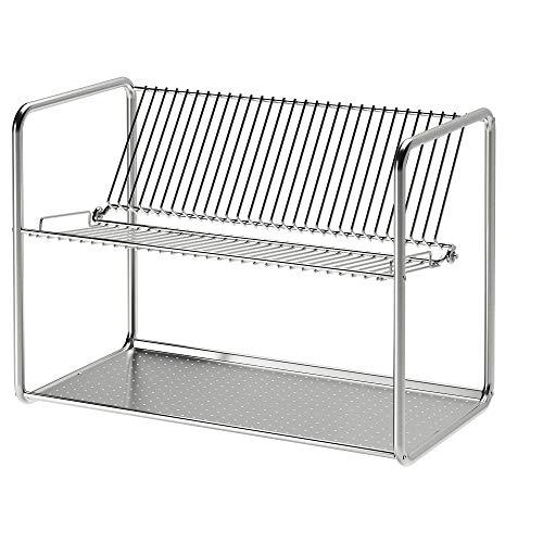 "Ikea ORDNING Dish Drainer' Dish Drainer, Stainless Steel, 50x27x36 cm (19 5/8x10 5/8x14 1/8"")"