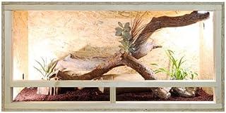 Terrario de tamaño grande de madera para reptiles, para interiores, parte frontal con ventilación, para serpientes y lagartos, beige, 120x60x60cm - Side Vent
