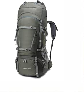 Outdoor Mountaineering Bag Bicycle Backpack Hiking Backpack Multi-Function Travel Backpack Large Capacity Waterproof AMINIY (Color : Gray)