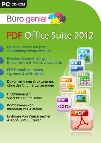 Büro genial PDF Office Suite 2012 [import allemand]