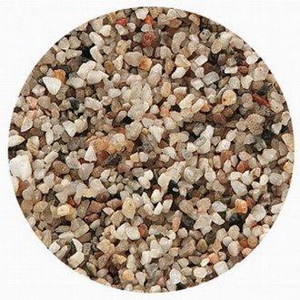 WFW wasserflora 10 kg Aquarienkies hell für EIN 60L Aquarium, Kristall-Quarzkies feine Körnung 1-3 mm