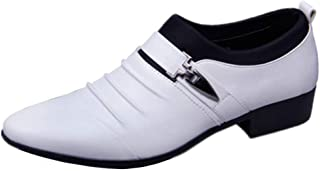 Men's Formal Low Top Oxford Shoes Formal Shoes (Color : White, Size : 45)