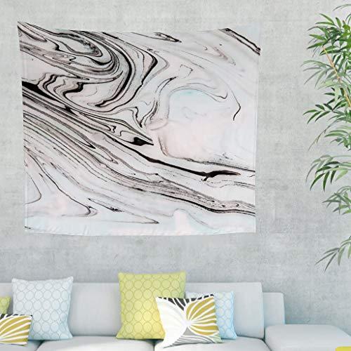 Zhouwonder Tapiz hippie de textura de mármol con arte de pared para sala de estar, dormitorio, dormitorio, habitación, color blanco 59 x 59 pulgadas