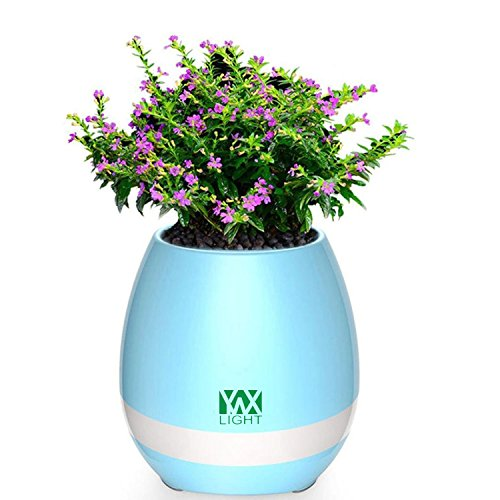 Cicongzai Smart Touch Sensors muziek Bluetooth Flower pot High LED Nachtlicht LED Bloemenvaas spelen Piano Decoratie Plant Speaker