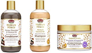 African Pride Moisture Miracle Combo (CONDITIONER &SHAMPOO & CURLING CREAM)