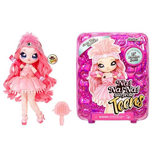 Na Na Na Surprise Teens Modepuppe - Coco Von Sparkle, 28 cm große, weiche Stoffpuppe, Charakter Flamingo