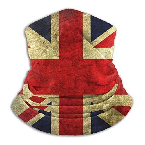 Strawberryran Bandera inglesa vintage Cuello pasamontañas cómodo Calentador Capucha pasamontañas