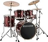 Ludwig LCEE20025 - Juego de tambor, color rojo