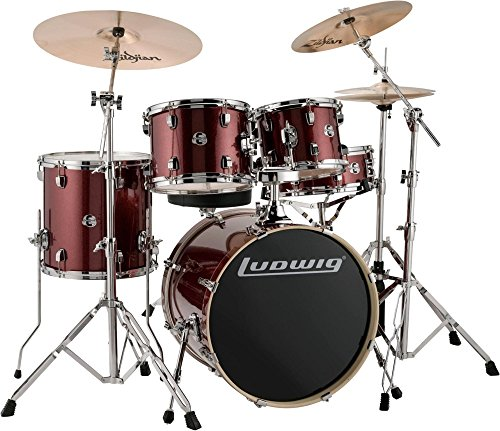 Ludwig Drum Set Red Sparkle (LCEE20025)