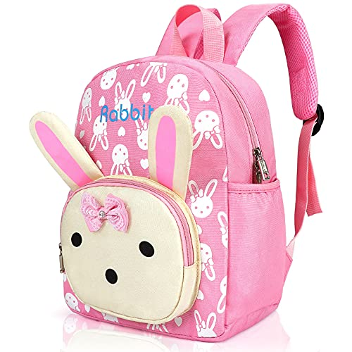 Cosyres Cute Bunny Toddler Nursery Kids Backpack Girls, Pink backpack for...