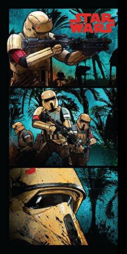 Jerry Fabrics JF0221 Star Wars Stormtroopers Dusch und Strandtuch, Baumwolle, Blue, 70 x 140 cm