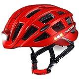 WEZER OTY Casco Bicicleta con luz, Ajustable Ligera para Montar Ski & Snowboard Unisex Cascos Bici Adultos