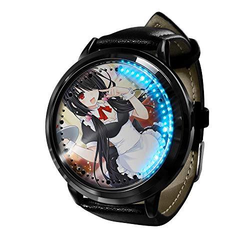 Reloj de Anime Reloj de Batalla de Citas Impermeable Pantalla táctil Digital luz Neutra Reloj de Cosplay Reloj Accesorio Regalo-A