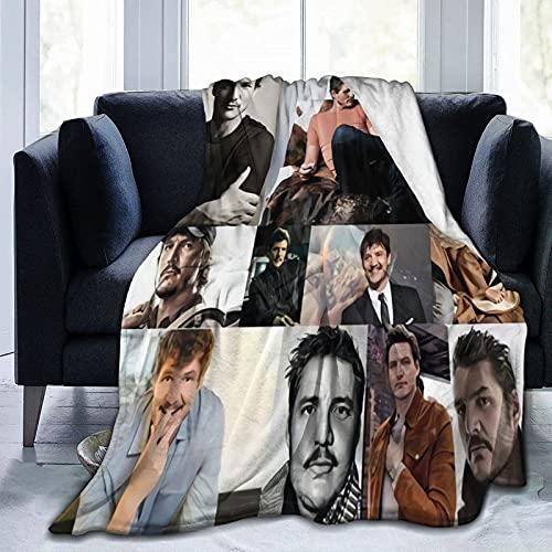 Pedro Pascal - Manta de forro polar suave y cómoda para sofá, cama de oficina, coche, campamento, acogedora, mullida y mullida manta de felpa, mantas de playa