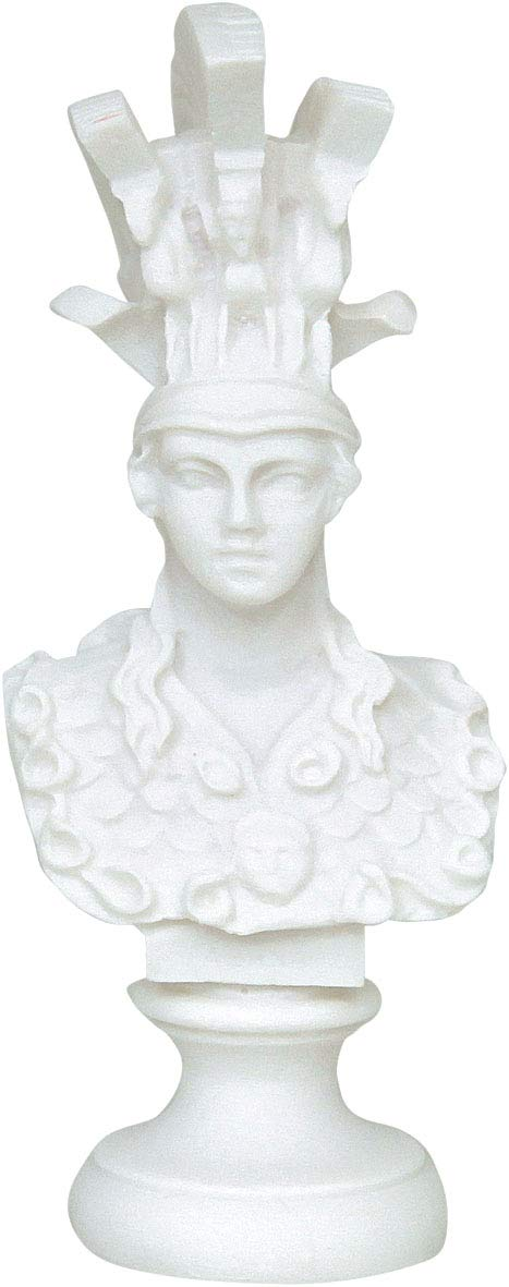 Estia Creations Athena Diosa Escultura Busto Minerva Griego Antiguo Gran Busto