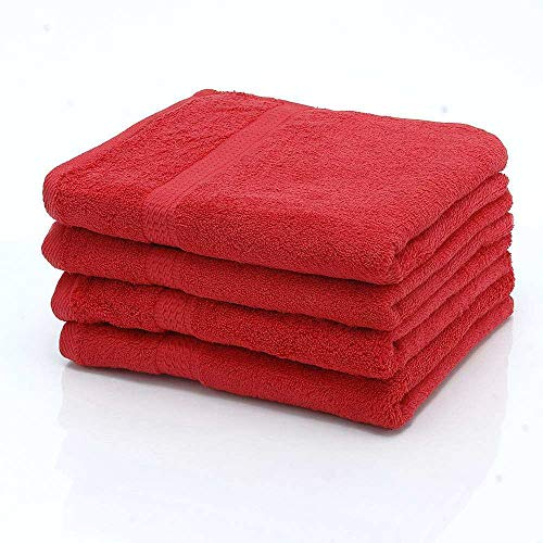 1 TLG. etérea handdoek, gekamd katoen, zware kwaliteit, 50x100 cm, rood