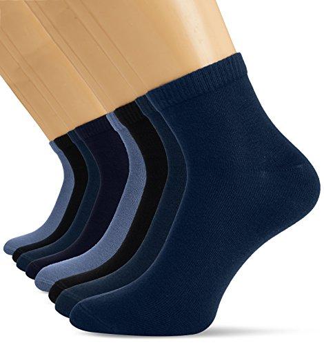 s.Oliver Socks Herren S21009 Sneakersocken, Blau (Navy 4), (Herstellergröße: 43/46) (8er Pack)