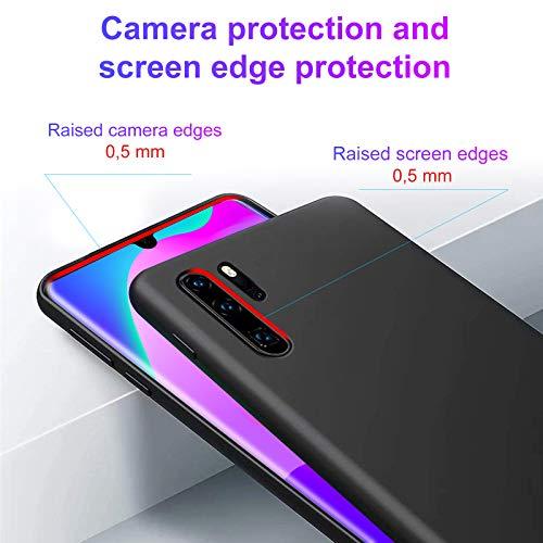 Hülle für Huawei P30 Pro, Ultra Dünn Sanft Silicone TPU Handyhülle, 360° Voll abgedeckte stoßfeste Schwarz Handyhülle für Huawei P30 Pro (Schwarz)