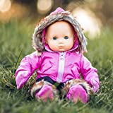 The Queen's Treasures 15' Complete Doll Clothes for American Girl's Bitty Baby & Twins! Pink Snow Suit Jacket, Pants, Mittens & Boots. Packaged in Reusable Garment Bag & Plastic Hanger