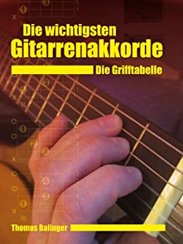 Die wichtigsten Gitarrenakkorde - Die Grifftabelle (German Edition) by [Thomas Balinger]