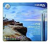 Lyra 2881240 - Set de 24 lápices y 1 pincel, multicolor