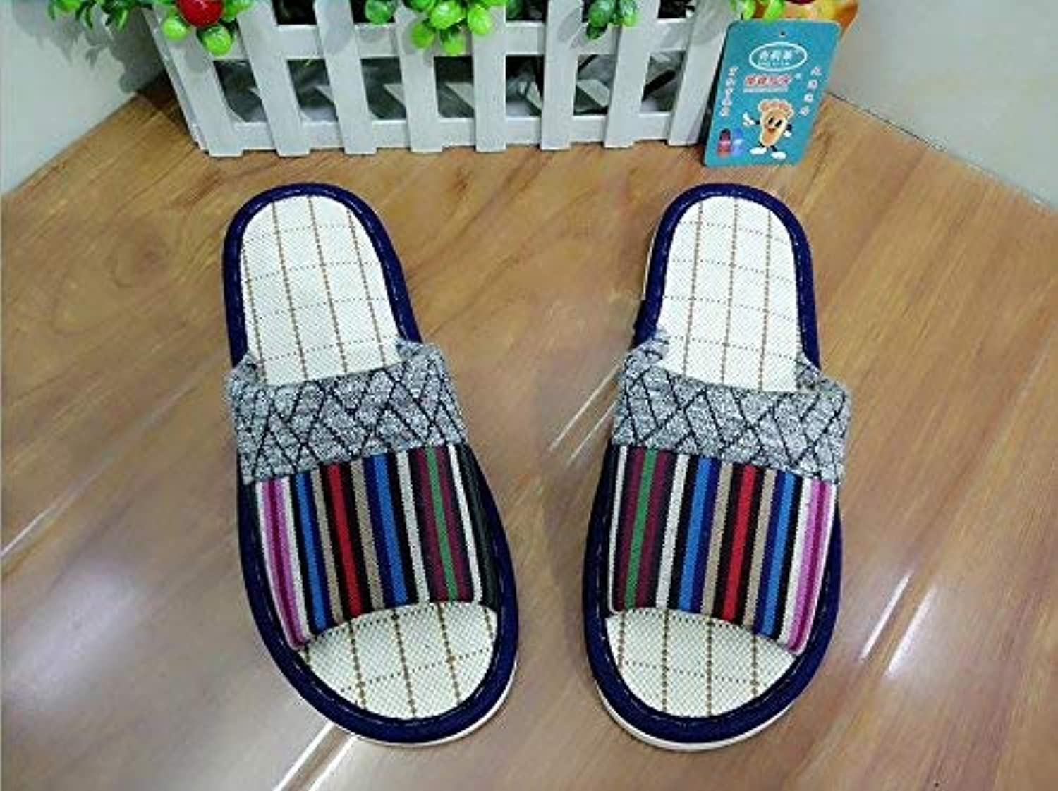 JaHGDU Men Fashion Leisure Home shoes Interior Non Slip Slippers Cotton shoes Keep Warm Casual shoes for Men bluee Red