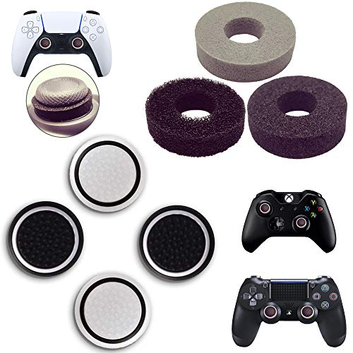 MatoSan - Thumbstick Stoßdämpfer + Kappen Zubehör-Set | Aim Kontrolle & Assist für Playstation 5, Playstation 4, Xbox, Switch - Controller Sticks | FPS Boost + Grip