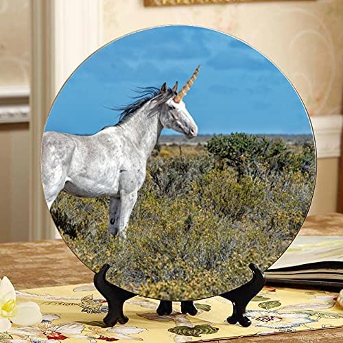 Girl Wreath Sit Selling and selling Lean On Ceramic Unicorn White Designer Horse outlet