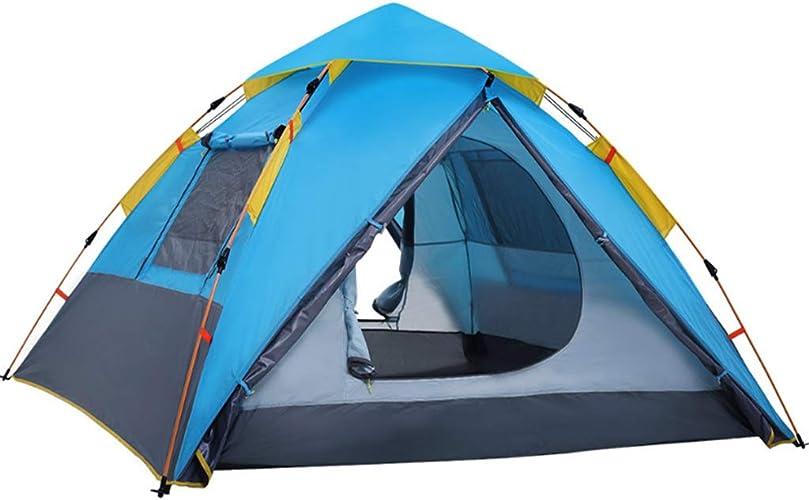 ZPF Camel Tente en Plein Air 2 Personnes 3-4 Personnes Camping Tente De Camping Familial étanche à La Pluie
