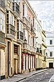 Posterlounge Lienzo 20 x 30 cm: Cadiz Andalusian City de Uwe Merkel - Cuadro Terminado, Cuadro sobre Bastidor, lámina terminada sobre Lienzo auténtico, impresión en Lienzo