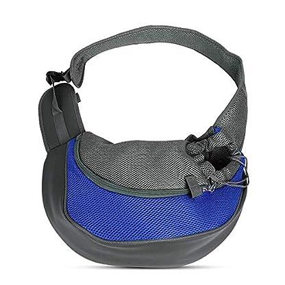 PETEMOO Pet Sling Carrier Bag, Hand-Free Dog Cat Outdoor Travel Shoulder Bag with Adjustable Strap& Zipper 4