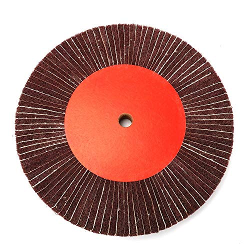 4''-12'' Non-Woven Nylon Abrasive Grinding Flap Wheel Souring Pad 320# Thickness 25mm 100/125/150/200/250/300mm Gaodpz (Color : 125mm)