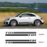 車のステッカー 繊細 デカール フルボディ カー サイド ステッカーFor Volkswagen Beetle TSI TDI Turbo