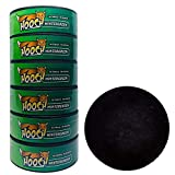 Hooch Herbal Snuff Wintergreen Fine Cut 6 Cans with DC Crafts Nation Skin Can Cover - Black