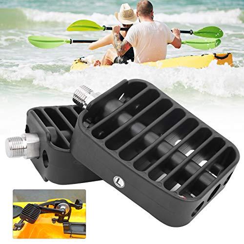 Wosune Pedal de Kayak, Pedales de Apoyo, Pedal de piragüismo, Almohadillas de plástico Profesionales para Kayak para Barcos de Pesca