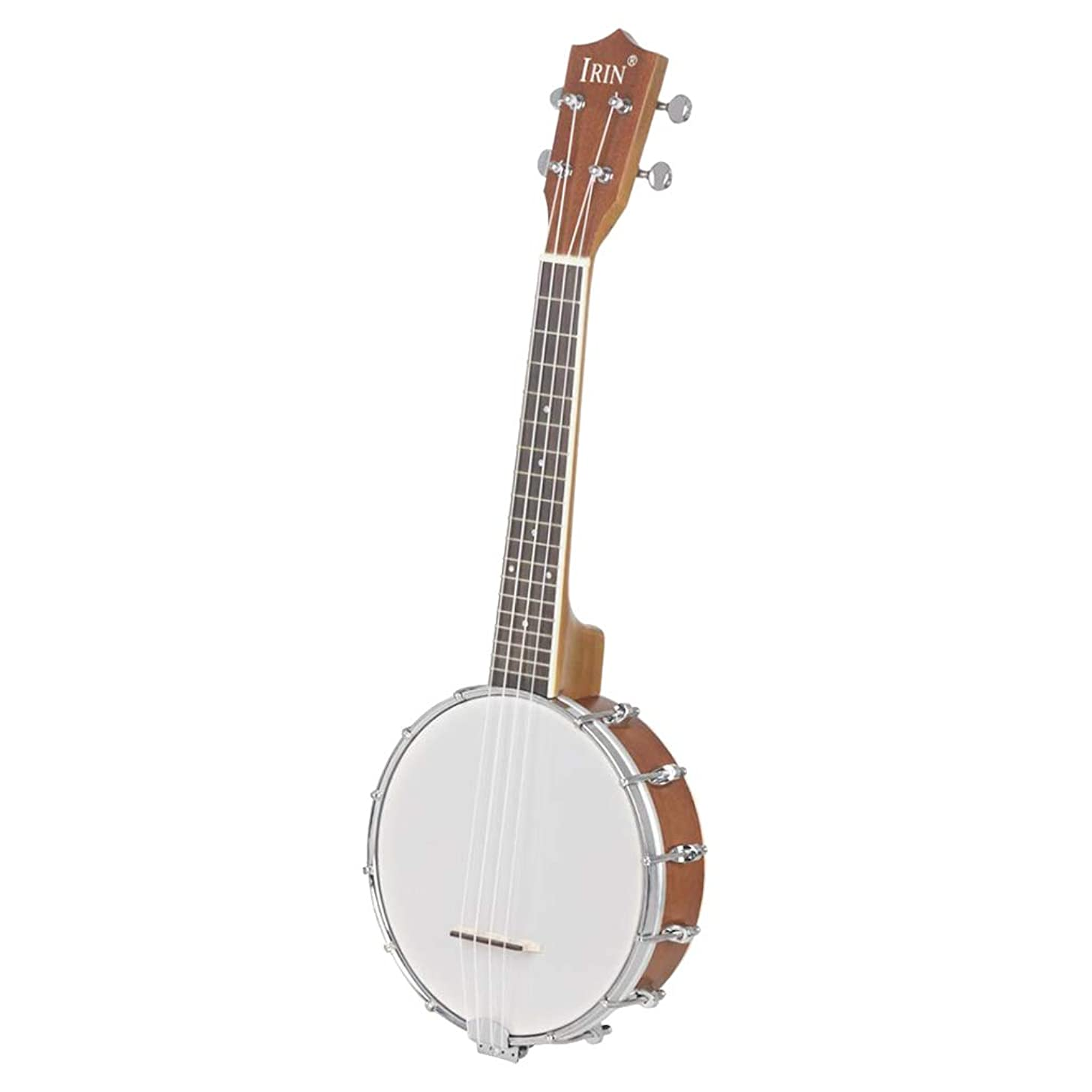 Flameer 4-string Banjo Stringed Instrument with Capo Strings Cleaning Polish Cloth