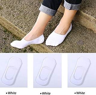 5 pares de calcetines invisibles de verano para calcetines Calcetines femeninos Calcetines bajos de tubo Zapatillas Boca baja Damas y niñas sin calcetines 3 pares Estilo A