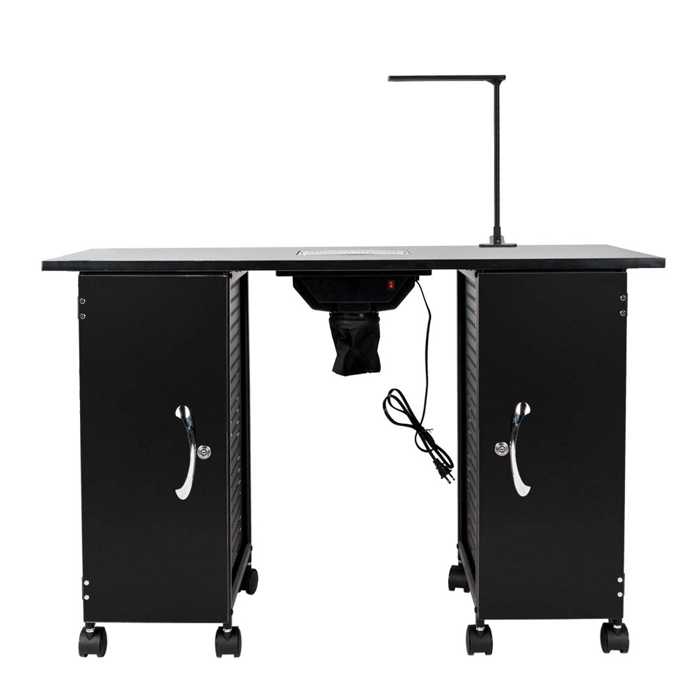 Teeker Iron Manicure Station 5 popular Large Ranking TOP7 Table Arm with LED Lamp Res