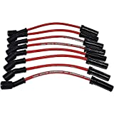 A-Team Performance Silicone Spark Plug Wires Set Compatible with GMC Chevy Truck SUV 1999-2014 11' VORTEC LS LS1 LS2 LS3 LS6 LS7 4.8L 5.3L 5.7L 6.0L 6.2L 7.0L Red 8.0mm