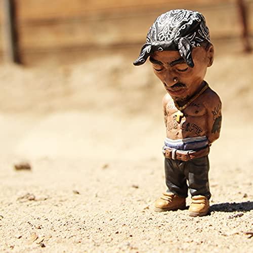 Legende Gedenk-Harz Ornamente,handgefertigte The Late Rap Music Star Resin Sculptures Collectible,Notorious B.I.G und 2Pac(Tupac) Souvenirfiguren Statue,Hip-Hop-Fans Freunde,Hip Hop Rapper Figuren (D)